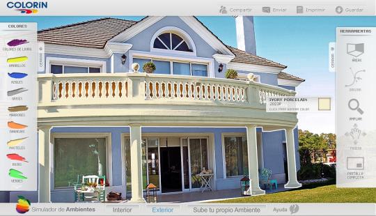 Simuladores de ambientes profesional del color for Simulador de casas