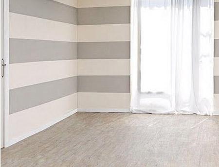 Como pintar una pared con lineas horizontales