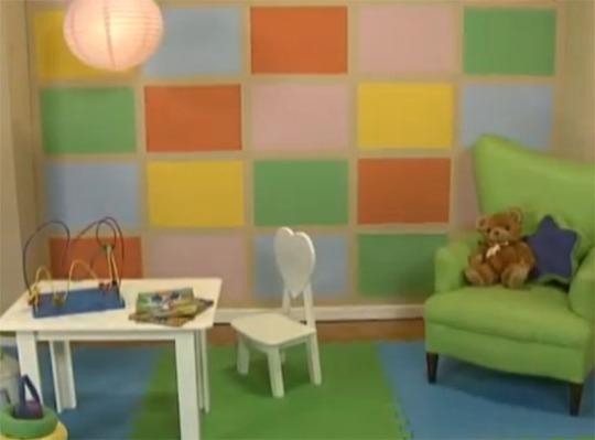 como pintar a cuadros habitación infantil